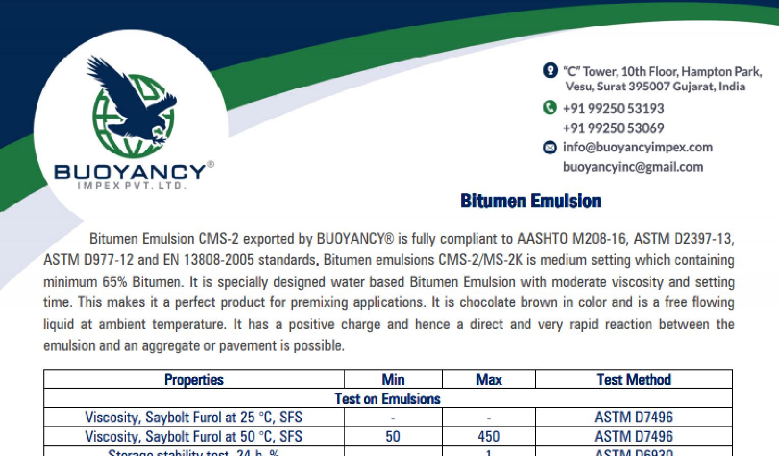 CMS-2/MS-2K (Emulsion Bitumen)