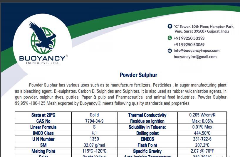 Powder Sulphur – 125 Mesh