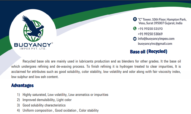 RECYCLED BASE OIL SN70